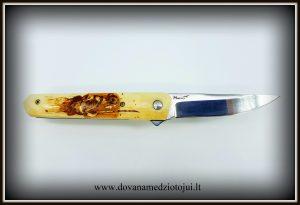 lenktinis peilis nr 416 (1) Medžiokliniai peiliai, peiliai medžioklei, rankų darbo peiliai, peilis medžiotojui, peilių gamyba, išskirtiniai peiliai, dovana vyrui, verslo dovanos, kokybiški peiliai