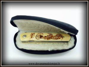 lenktinis peilis nr 416 (10) Medžiokliniai peiliai, peiliai medžioklei, rankų darbo peiliai, peilis medžiotojui, peilių gamyba, išskirtiniai peiliai, dovana vyrui, verslo dovanos, kokybiški peiliai