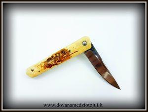 lenktinis peilis nr 416 (11) Medžiokliniai peiliai, peiliai medžioklei, rankų darbo peiliai, peilis medžiotojui, peilių gamyba, išskirtiniai peiliai, dovana vyrui, verslo dovanos, kokybiški peiliai