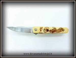 lenktinis peilis nr 416 (2) Medžiokliniai peiliai, peiliai medžioklei, rankų darbo peiliai, peilis medžiotojui, peilių gamyba, išskirtiniai peiliai, dovana vyrui, verslo dovanos, kokybiški peiliai