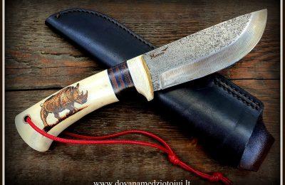 """Medžioklinis peilis Nr 539""""Raganosis""""  250 €"""