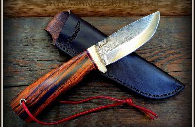 """Medžioklinis peilis """"Lušis-14""""  150 €"""