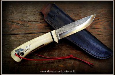 """Medžioklinis peilis """"Lušis-16""""  150  €"""