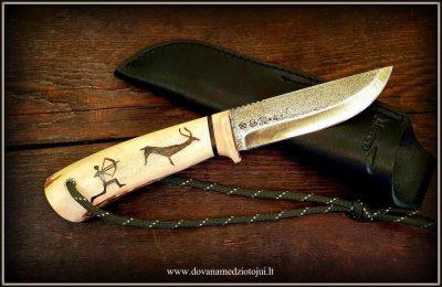 """Medžioklinis peilis """"Ernis-9""""  140 €"""